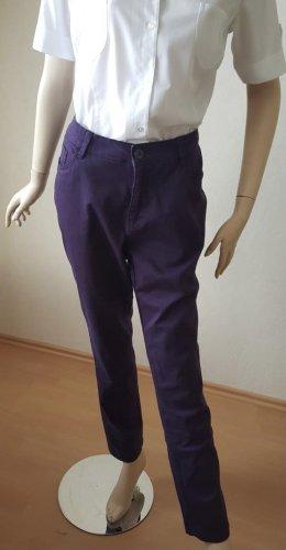 Lila violett Hose Baumwolle Größe 44 von Laura T