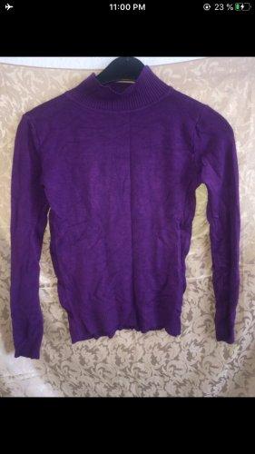 Turtleneck Sweater brown violet-lilac