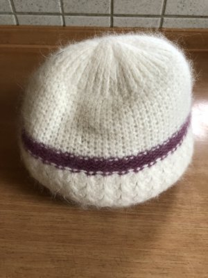 Fabric Hat white-lilac