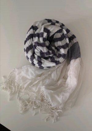 Lila weißer Schal