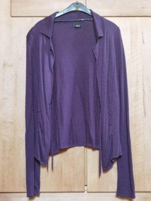 s. Oliver (QS designed) Gilet long tricoté violet-gris violet