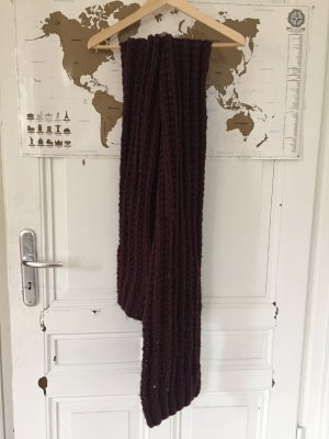 Knitted Scarf brown red