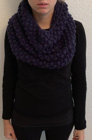 H&M Bufanda de punto violeta oscuro
