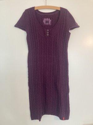 edc Vestido de lana violeta oscuro