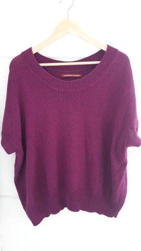 Lilaflieder Kurzarm-Pullover