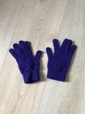 H&M Guantes con dedos violeta oscuro