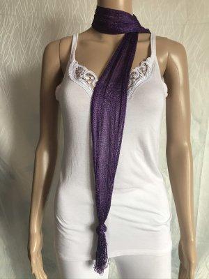 Summer Scarf dark violet-silver-colored