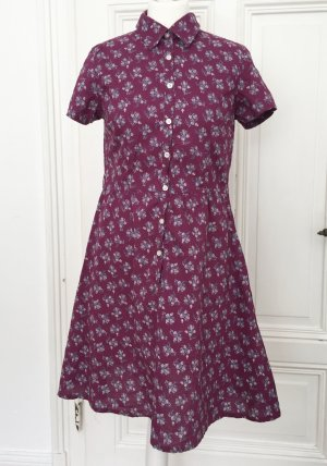 Lilanes geblümtes Sommerkleid / Kurzarmkleid / Shirtkleid / Skaterkleid
