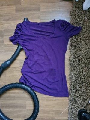 Koszula z odcięciem pod biustem fiolet
