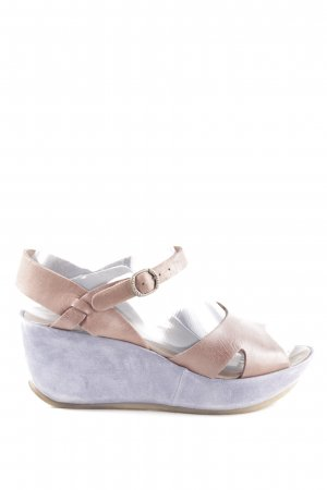 Lili Mill Keil-Pumps blau-pink Casual-Look