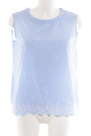 Lilienfels ärmellose Bluse blau-weiß Blumenmuster Casual-Look