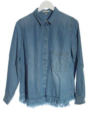 Lilienfels Chemise en jean bleu style décontracté