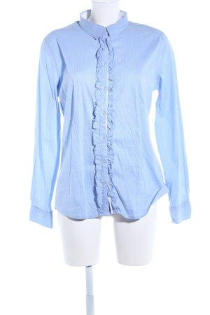 Lilienfels Langarm-Bluse blau-weiß Streifenmuster Business-Look
