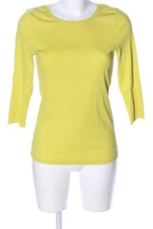 Lilienfels Top à manches longues jaune primevère style décontracté