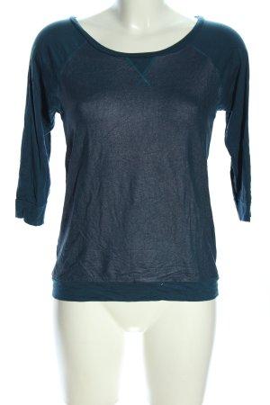 Lilienfels Top à manches longues bleu moucheté style décontracté
