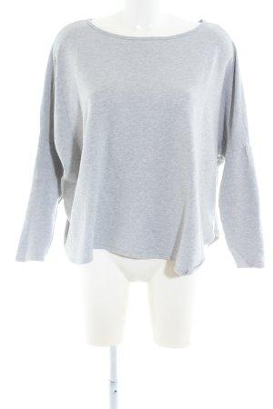 Lilienfels Oversized Shirt hellgrau meliert Casual-Look