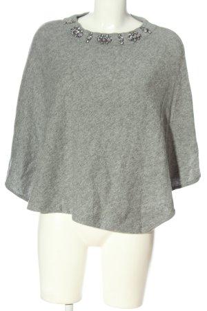 Lilienfels Poncho gris claro moteado look casual
