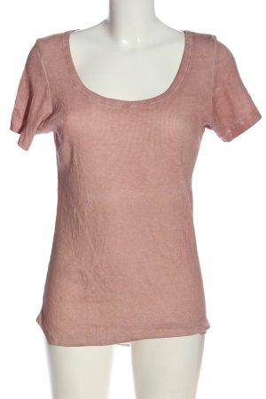 Lilienfels Prążkowana koszulka nude Melanżowy W stylu casual