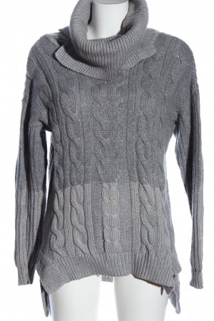 Lilienfels Turtleneck Sweater light grey cable stitch casual look