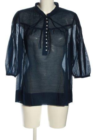 Lilienfels Schlupf-Bluse blau Casual-Look