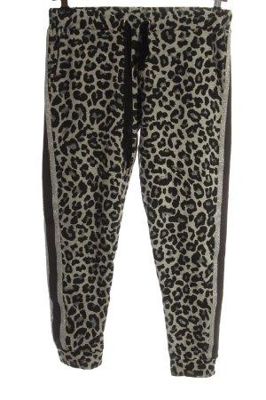 Lilienfels Sweat Pants light grey-black leopard pattern casual look
