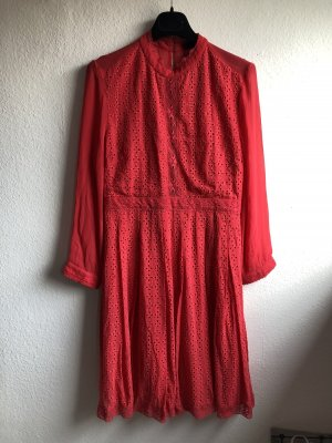 All Saints Mini vestido rojo claro