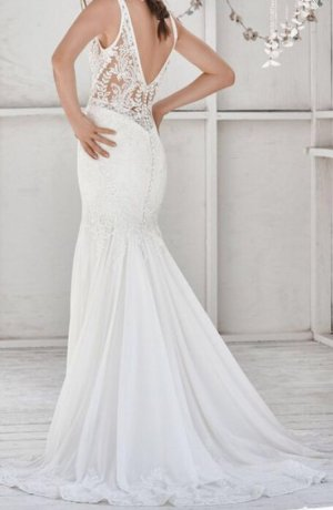 Lillian West Vestido de novia blanco
