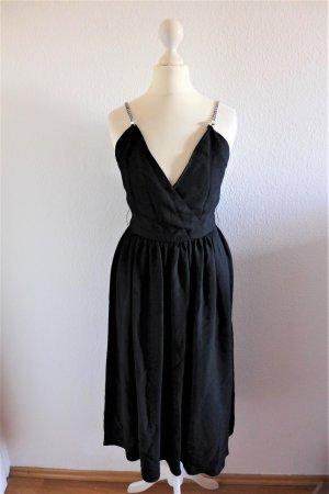 Lillie Rubin vintage Abendkleid SATC Tüll schwarz Strass US 4 dt XS S 34 36