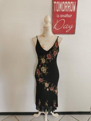 Lillie Rubin Vintage Damen Seidenkleid Abendkleid schwarz Größe 6 (36)
