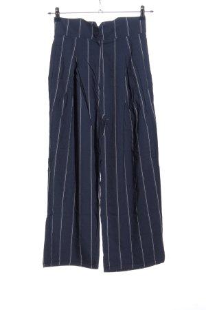 Lilly Florence Pantalon Marlene bleu-blanc imprimé allover style d'affaires