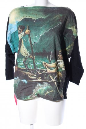 Lily Farouche Oversized Shirt Motivdruck Casual-Look