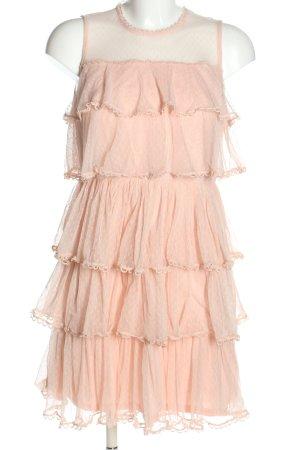 Lily Mcbee Flounce Dress cream elegant