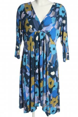 Lily & Me Wraparound blue-primrose allover print casual look