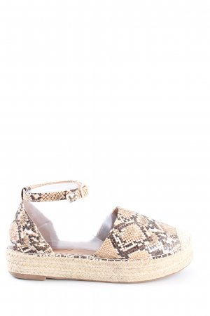 Lily shoes Espadrille sandalen room-bruin dierenprint casual uitstraling