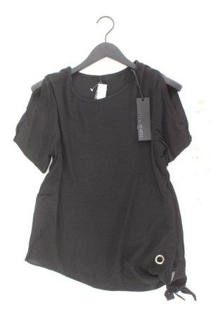 Lily White Kurzarmbluse Größe S/M neu mit Etikett schwarz aus Baumwolle