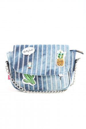 Limelight Mini Bag blue-white striped pattern casual look