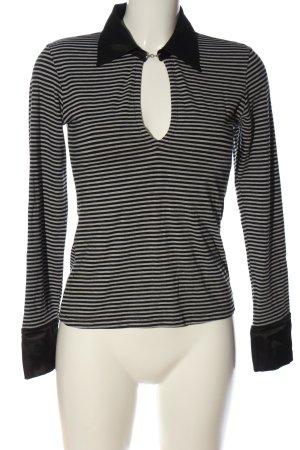 Limelight Stripe Shirt black-light grey flecked casual look