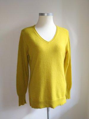 Limettengelber Cashmere-Pullover von The Mercer