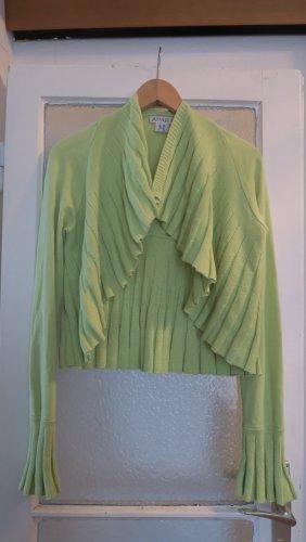 Limettengrüner Cardigan / Strickjacke von Apart