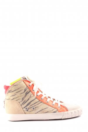 limited a by a.s.h Schnürsneaker creme-hellorange Animalmuster Casual-Look