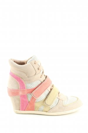 limited a by a.s.h Wedge Sneaker wollweiß-pink Casual-Look