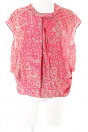 Limited Collection Glanzbluse pink-wollweiß Allover-Druck Casual-Look