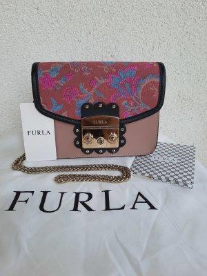 Limited Edition, Furla Metropolis Nuvola Mini, rose, goldene Hardware, Crossbody, Clutch