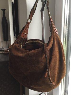 Louis Vuitton Bolso tipo marsupio marrón oscuro-color bronce Cuero