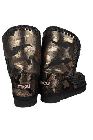 Limited Edition Mou Blogger 36 hoch schwarz bronze military khaki Lammfell