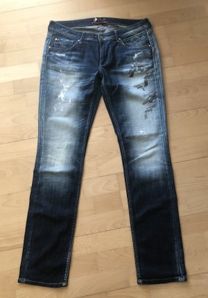 Andy Warhol by Pepe Jeans London Stretch jeans donkerblauw-leigrijs Katoen