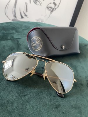 Ray Ban Glasses gold-colored-dark brown real gold
