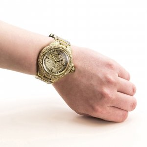 Limited MICHAEL KORS Uhr  CAMILLE GOLD TONE CRYSTAL GLITZ LADIES WATCH