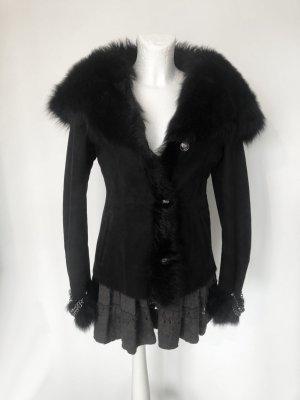 Philipp Plein Leather Jacket black leather