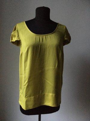 limonenfarbene kurzärmelige Bluse von Zara Basic
